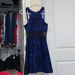 Homecoming royal blue with black detailing